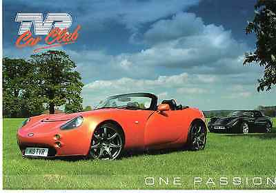 Tvr Postcard. Very Rare Official Tvr Club Issue. Version 4