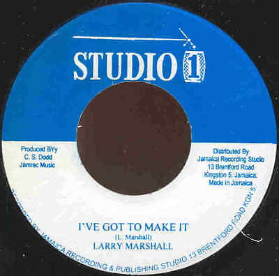** Larry Marshall Ive Got To Make It  Jackie Mittoo  Holy Version  Studio One