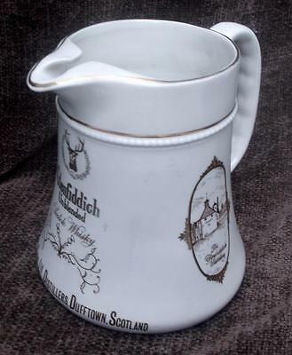 Old HCW Burleigh Ware Glenfiddich Unblended Whisky Water Jug, Pitcher