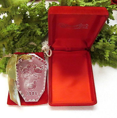1986 Waterford Crystal Christmas Tree Ornament W/ Box No Papers
