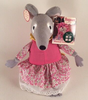 Bagpuss Musical Lizzie Mouse Singing Interactive Plush Soft Toy With Tags