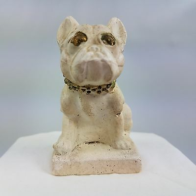 Vintage French Bulldog Chalkware Figure Carnival Prize With Attitude Pose