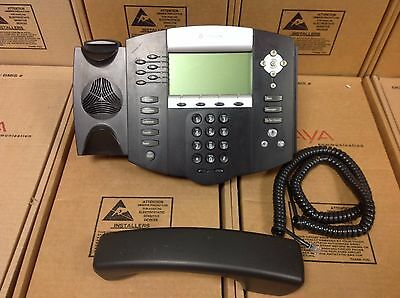 Polycom SoundPoint IP 650 IP650 SIP 2201-12630-001 Phone W/ STAND &  HANDSET