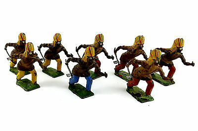 Set of 8 Indian American Lead Figures with Hatchets BRITAINS Ltd