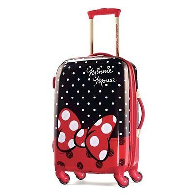 """American Tourister Disney Minnie Mouse Red Bow Hardside Spinner 21"""", 67612-4754"""