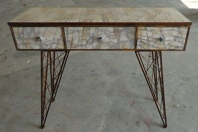 Iron Table With 2 Marble Drawers