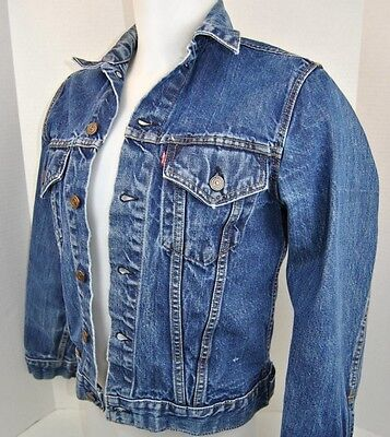 Levis Levi Strauss Blue Jean Jacket  Adult Size Small To Medium  Free Shipping