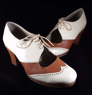 Flamenco Shoes Professionals brand new beige and brown leather  size 37
