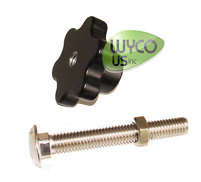 """Squeegee Knob & Screw, 3/8""""-16,Clarke Large Encore,Vision Scrubbers, 25201A, 5C8"""