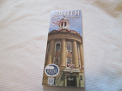 VISIT BATH  Map & Brochure  of Bath Maine City of Ships