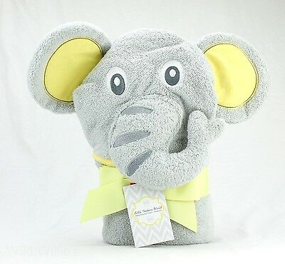 "Hooded Baby Bath Towel Little Tinkers World Large Elephant New 30""x30"""