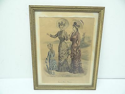 Antique Sylvias Home Journal The Newest French Fashions Advertising Print Art