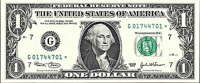 Usa, Frn,  $1.00   P-515 * Star*  Note, 2003,  G,  Chicago District, Unc