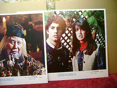 8 CLEAN orig GREMLINS MINT 1984 MOVIE lobby card set DANTE/PHOEBE CATES 11x14 ""