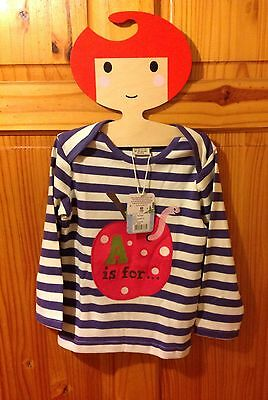 Frugi organic cotton A is For Apple long sleeve t shirt top 18-24 Months BNWT