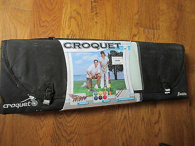 New in Package FRANKLIN Croquet Set Complete in Travel Case! 6 PLAYER