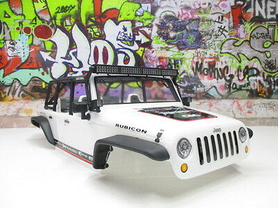 Axial 1/10 SCX10 2012 Jeep Wrangler Unlimited C/R Edition Body Shell LED Lights