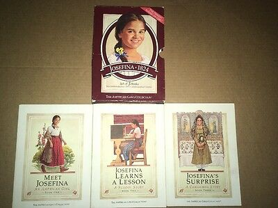 american girl collection josefina 1824 books (3 softcover set in fair box) 1997