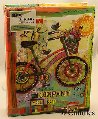 Happy Company Bike Address Book Lang 600 Names Home Cell Phone Email Ring Binder