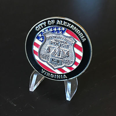 B69 ALEXANDRIA Virginia Police Department K9 Canine Challenge Coin