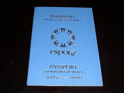 Vintage World Fair 1967 - PASSPORT EXPO 67- To Man and His World- Adult