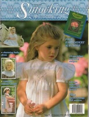 Australian Smocking & Embroidery No 23 Multi-size Patterns  AS NEW + Inaugural