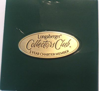 Longaberger Collectors Club 5-Year Charter Member Lapel Pin New in Box