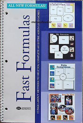 Creative Memories All New Fast Formulas Ideas Layout Book