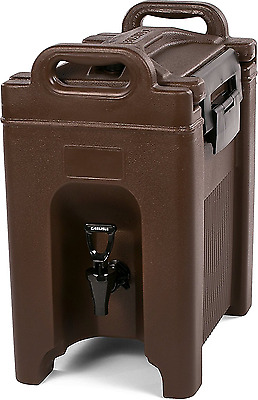 Insulated Beverage Server Dispenser 2.5 Gallon Brown, Great for Coffee Tea Water