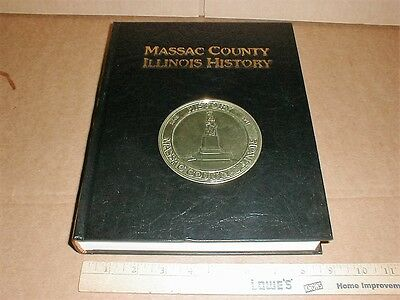 Massac County illinois IL family history 1843-1987 Brookport Metropolis +++ book