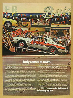 1976 Buick Century Indy 500 Pace Car Replica photo vintage print Ad