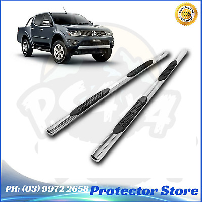 Aluminium Side Steps for Mitsubishi Triton 2006-2015 Dual Cab Running Boards Sid