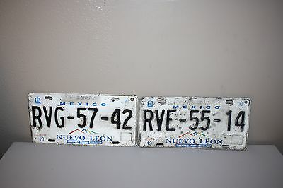 CHOICE OF (1) ONE SET: TAMPS MEXICO License Plate vintage repurpose nuevo reynos