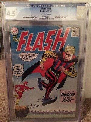 CGC 4.5 The Flash #113 1st Appearance Of The Trickster DC Comics Justice League