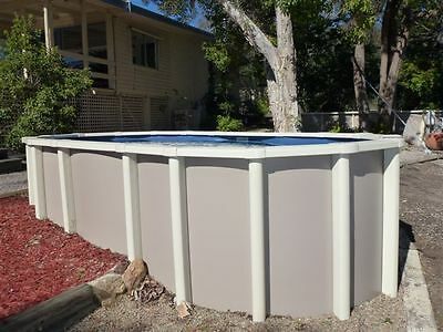 ABOVE GROUND POOL PACKAGE 8.2m x 4.5m  SALT - FREE AUTOCLEANER- AUST MADE