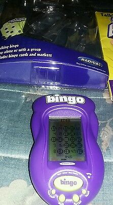 Radica Talking Bingo Touch Screen - Includes Hand Held 12 cards chips(No Stylus)