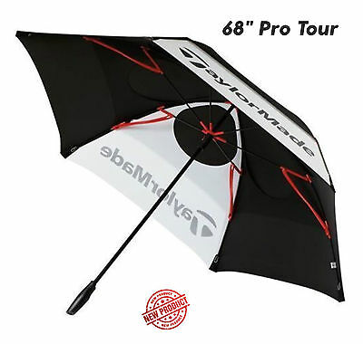 "Taylormade Golf 68"" Double Canopy Umbrella Leightweight Windproof   ""NEW 2017"""