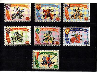Equatorial Guinea, a full set of 7 stamps. Knights