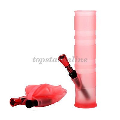 Silicone Portable Folding Water Hookah Pipe Bong USA Fast Free Shipping (Red)