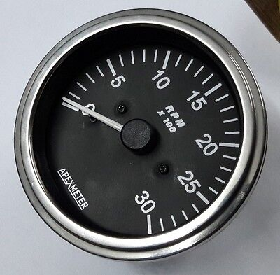 Tachometer 0 3000 rpm works on magnetic pickup sensor driven chrome tachometer 0 3000 rpm works on magnetic pickup sensor chrome bezelsensor 12v publicscrutiny Image collections