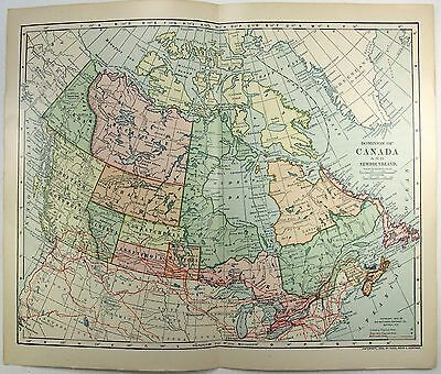 Original 1903 Dated Map of The Dominion of Canada by Dodd Mead & Company