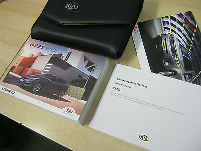 Kia Cee'd Ceed  Owners Manual  - Handbook Guide 2014-2016   Inc Sat Navigation