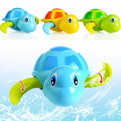 Funny Little Turtle Children Kids Playing In The Water Clockwork Swim Bath Toy