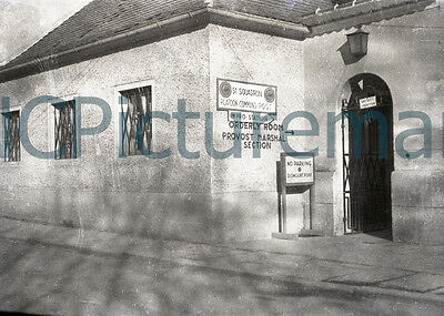 """51st Squadron Constabulary Platoon CMD Post 5"""" x 7"""" photo from 1940's negative"""