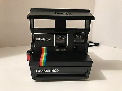 Polaroid One Step 600 Camera Rainbow With Box And Strap