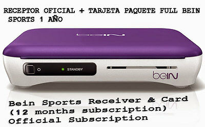 Bein Sports Receiver & Card (12 months subscription) we ship the item from SPAIN