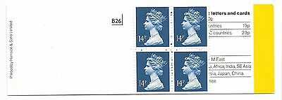GB 1988 56p class Booklet  with pane X903n  MINT SG GB3 Free postage