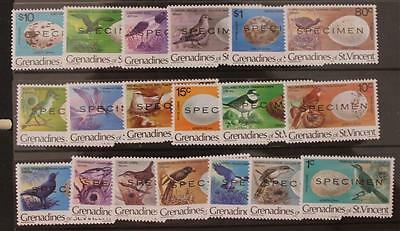 St Vincent Grenadines 1978 Birds and Their Eggs Specimen Set MNH SG110-129 20v