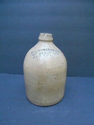 Antique Stoneware Advertising Jug M.A. Donally NYC