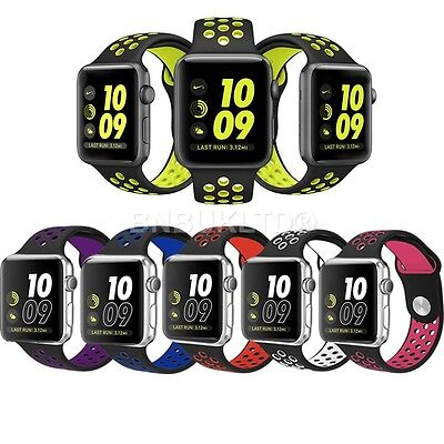 Silicone Sports Replacement Band Wrist Strap For Apple Watch Series 1 & 2